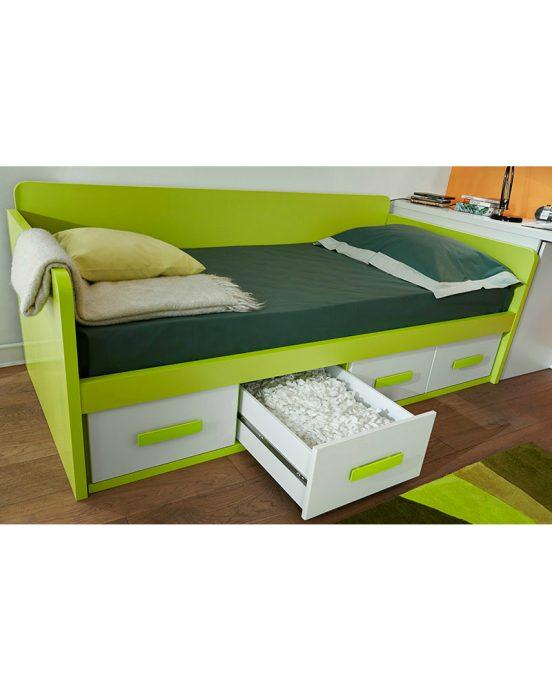 дизайн кроватки с выдвижными полками