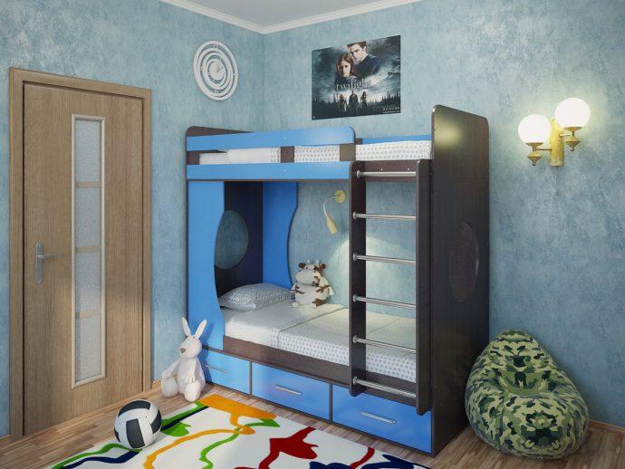 дизайн кровати деревянная в комнате