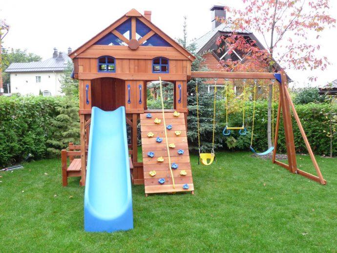 конструкция детской площадки на даче с турником