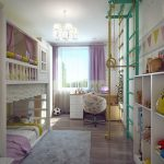 интерьер игровой комнаты в мультяшном стиле