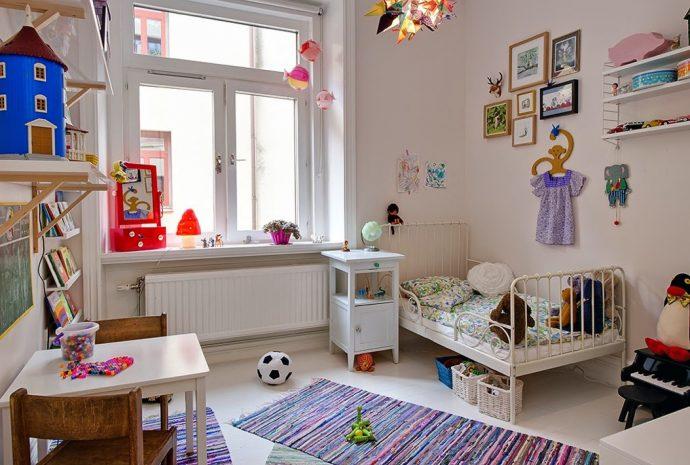 интерьер игровой комнаты в скандинавском интерьере