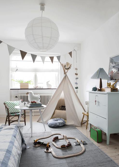 пример детской комнаты в скандинавском стиле