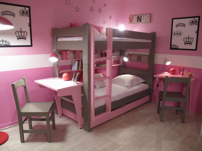 дизайн детской кровати деревянная в комнате