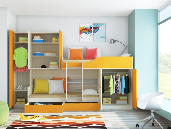 интерьер кровати деревянная в спальне