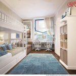 яркая детская спальня для двух мальчиков пример дизайна фото