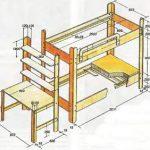 дизайнерская детская кроватка в комнате