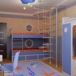 яркая детская комната для двух мальчиков дизайн картинка