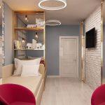 светлая детская спальня в стиле лофт фото интерьера