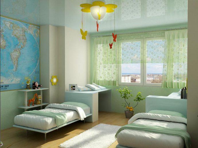 светлая детская спальня для двоих мальчиков дизайн