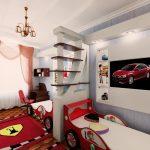 красивая спальня для двух мальчиков пример дизайна картинка