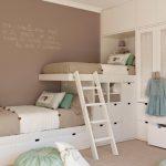 дизайнерское решение комнаты для детей для нескольких детей