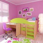 яркая детская кровать чердак в детскую комнату фото