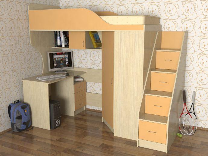 красивая детская кроватка чердак в дизайне комнаты фото