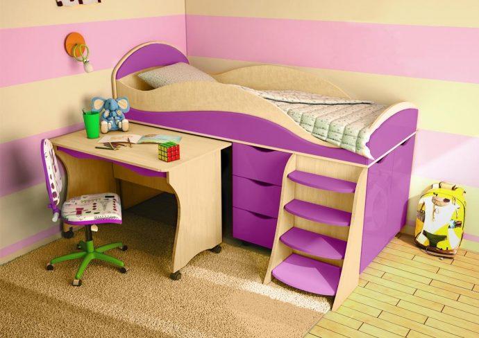 красивая кровать детская чердак в детскую комнату