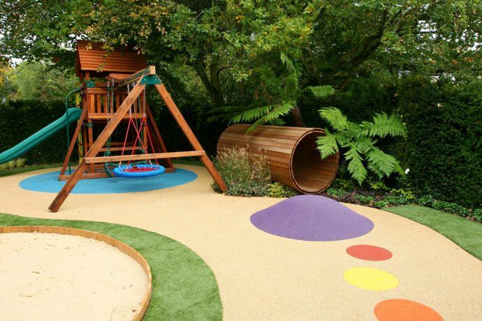 фото детской площадки на даче с турником