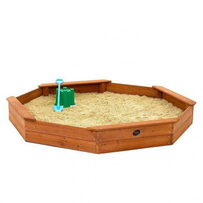 идея детской песочницы на даче без зонта