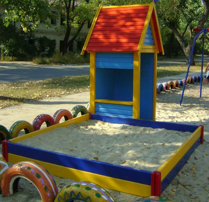 Уличная площадка в детском саду своими руками