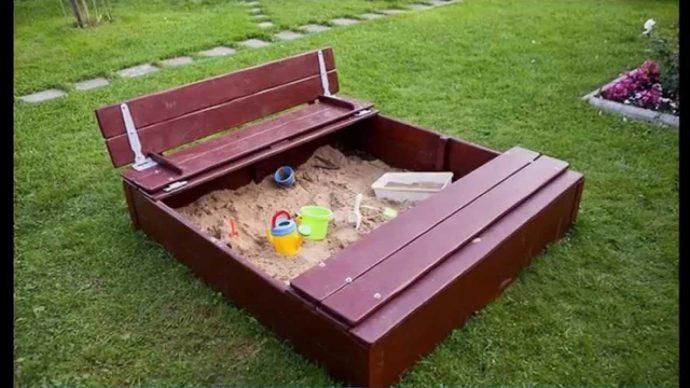 игровая песочница для подростков на даче готовая конструкция