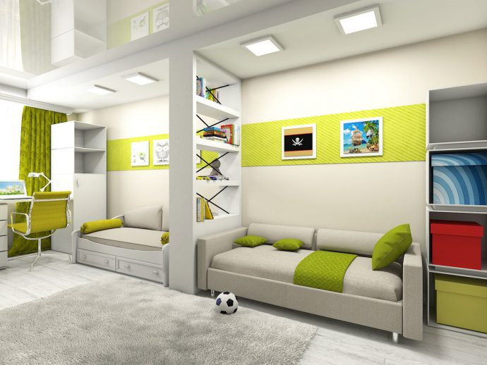 дизайн комнаты для детей для двойняшек