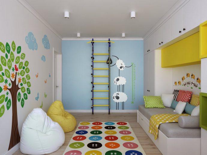 дизайн игровой комнаты в скандинавском стиле