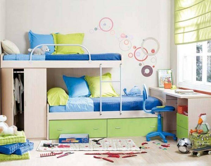 дизайнерское решение детской для двоих детей