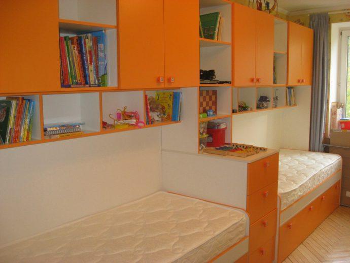 пример дизайна комнаты для детей для нескольких детей