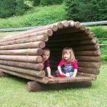 большой детская площадка для детей из массива дерева