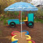 интересный игровая площадка для ребенка из дерева