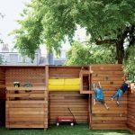 большой игровая площадка для детей из массива дерева