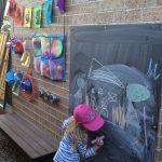 красивый детская площадка для ребенка из подручных материалов