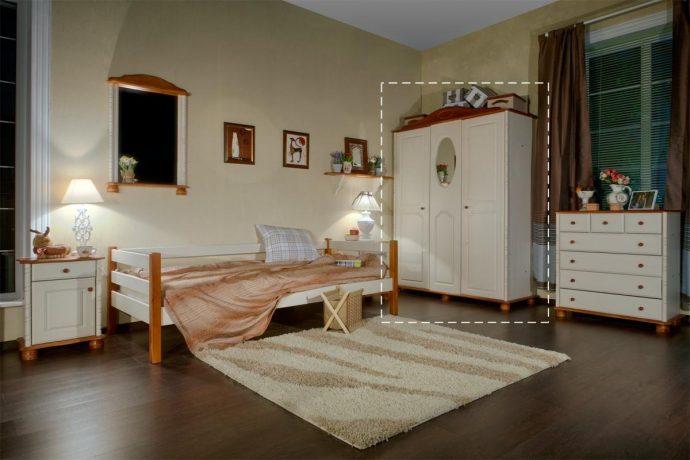 комод из массива дерева в интерьере детской комнаты сборка