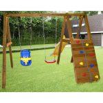идея маленькой детской площадки с качелями
