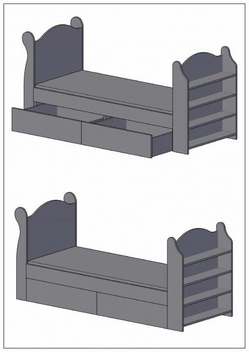 качественная кровать детская сделанная своими руками дизайн