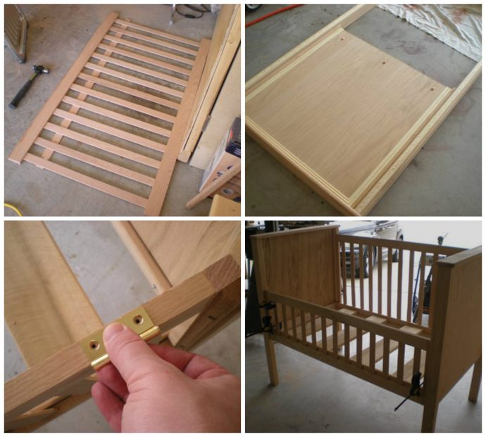 деревянная кровать из подручных материалов в интерьере фото интерьера