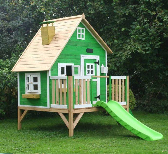 конструкция игрового домика на даче