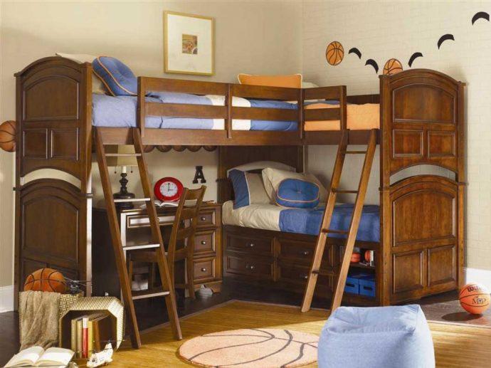 интерьер кровати деревянная в дизайне комнаты