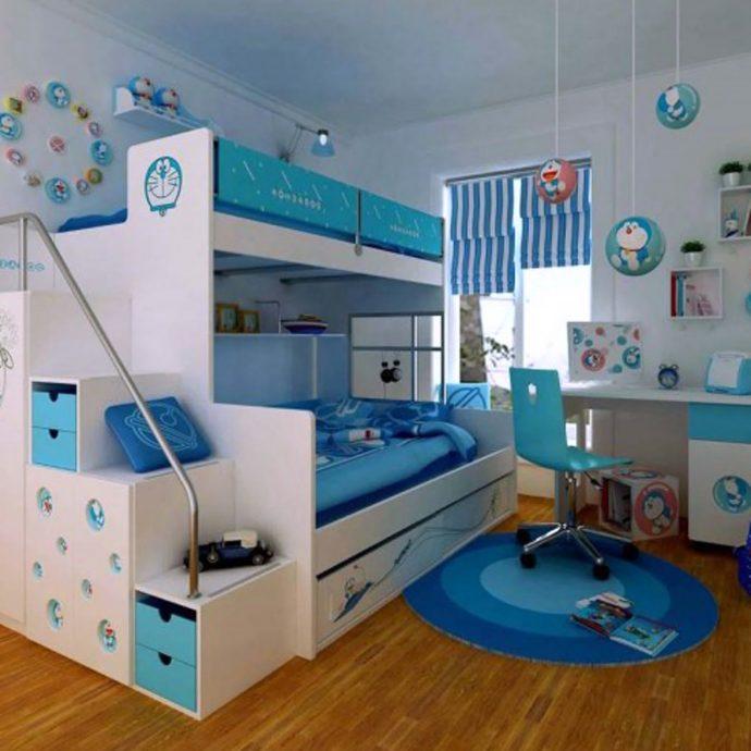 каркас детской кровати деревянная в спальне
