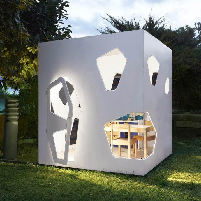 конструкция детского домика из дерева для дома