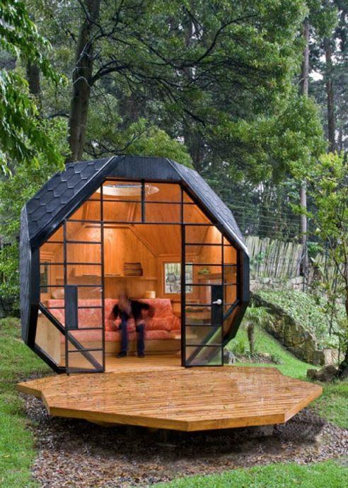 дизайн детского домика из массива для дачи