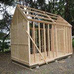 схема игрового домика из дерева для дачи