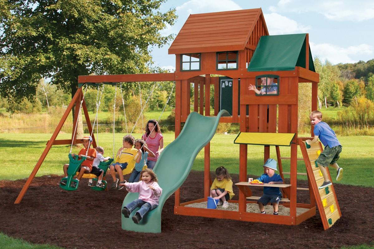 Деревянная детская площадка своими руками 60