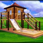фото детской песочницы на даче без зонта