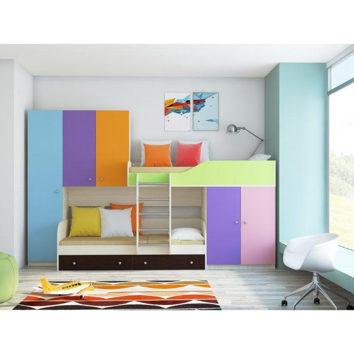 каркас кровати из массива дерева в дизайне комнаты