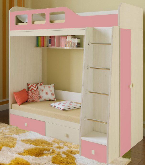 дизайн кровати из дерева в комнате