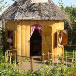конструкция детского домика из массива во двор