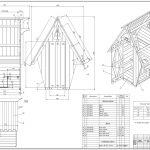 схема детского домика из массива дерева для дачи