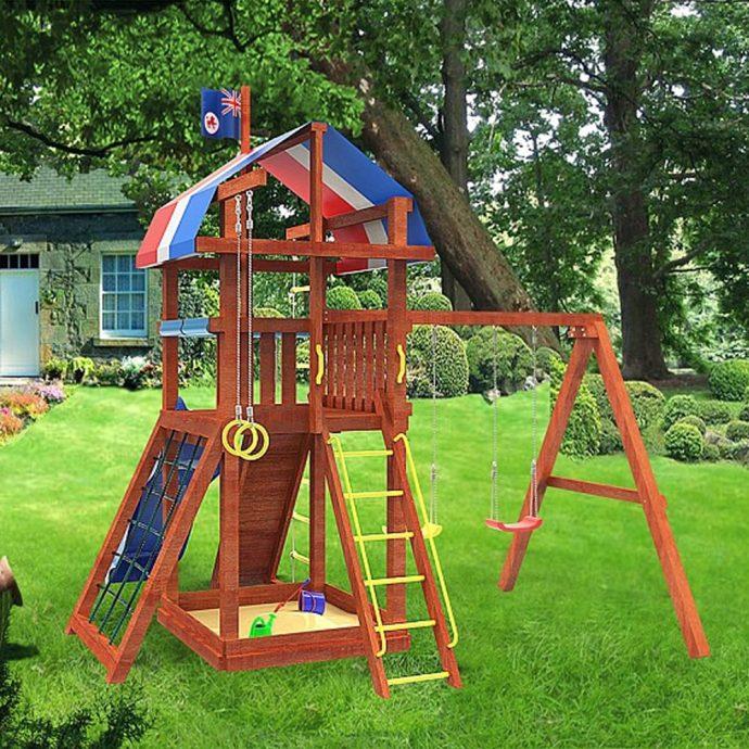 фото детской игровой площадки на даче с качелей
