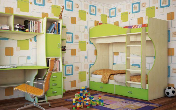 дизайн кровати деревянная в интерьере комнаты
