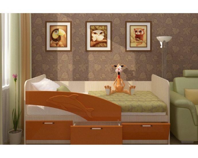 конструкция кроватки для ребенка в светлых тонах