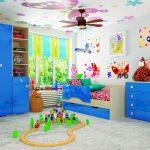 дизайн кроватки для ребенка в теплых тонах